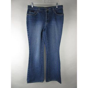New York & Company Medium Wash Flared Mom Jeans